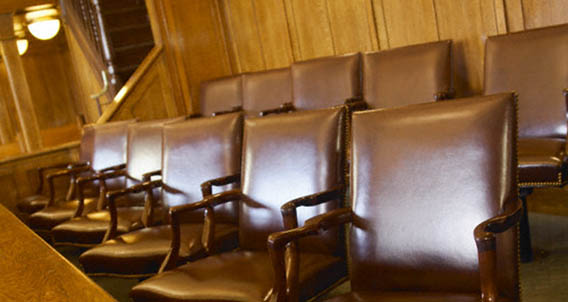 Empty Jury Box --- Image by © Gaetano/Corbis